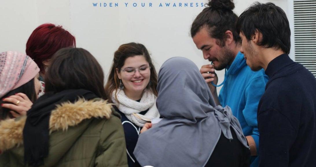 Nacereddine Semmar talking with workshop participants.